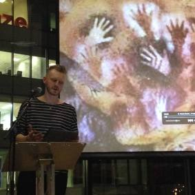 Kevin Burke speaking at the Archiving Women's Performance Practice event at Home, Manchester