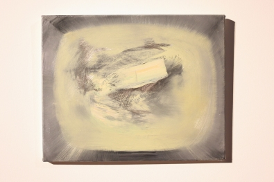 Part of Bartosz Beda's 4 oil paintings 'Landing On The Moon' at Ambition by Instigate Arts at HOMEmcr on Saturday 9th July 2016
