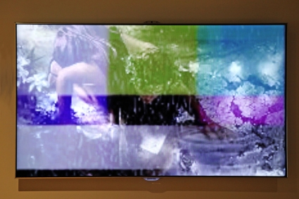 Kevin Burke's film to accompany flautist Sara Minelli's performance of Narcissus at Ambition by Instigate Arts at HOMEmcr on Saturday 9th July 2016