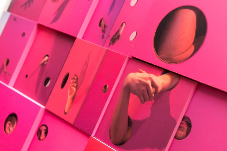 PINK BOX INSTALLATION YHA BRIGHTON 2015